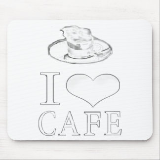 Mouse pad I love cafe exclusive image design