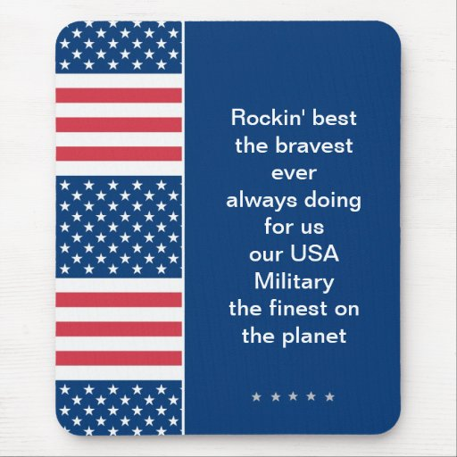 Mouse pad in Patriotic Stars + Stripes pattern USA