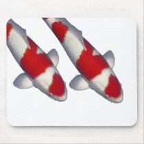 Mouse pad of brocade carp, No.01
