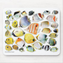Mouse pad of butterfly fish, No.05