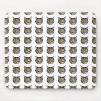 Mouse pad of face of cat, No.07