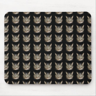 Mouse pad of face of cat, No.08