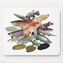 Mouse pad of large-sized tropical fish, No.01