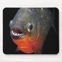 Mouse pad of piranha, No.01