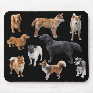 Mouse pad of various dogs, No.002