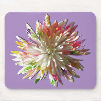 Mouse Pad - Painted White Spider Mum