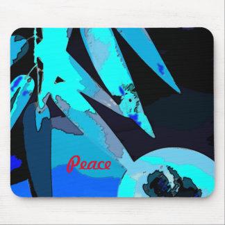 Mouse pad Peace & Bamboo Leaf Moon Blue
