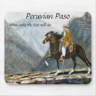Mouse Pad, Peruvian Paso Horse and Rider Mouse Pad