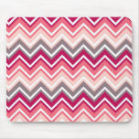 Mouse pad pink family chevron