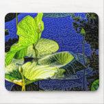 Mouse Pad - Pop Art Lilypads blue-green