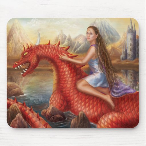 """Mouse Pad """"Red dragon """""""