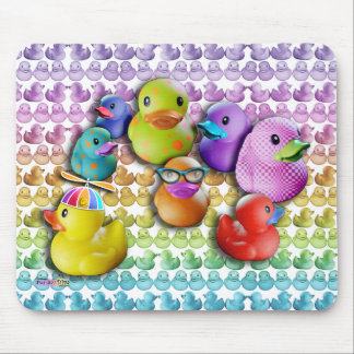 Mouse Pad Rubber Duckies Pop Art