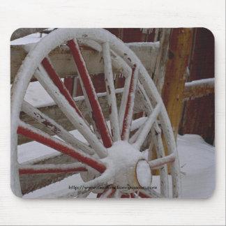 Mouse pad~~ Snowy Wagon Wheel