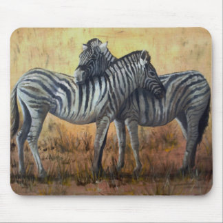 Mouse Pad Two Zebra