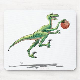 Mouse Pad Velociriptor with Basketball