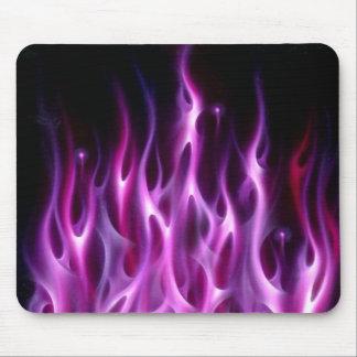 Mouse Pad - Violet Flames