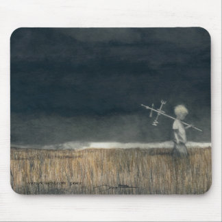 Mouse pad w/my pencil art, 'Childhood'