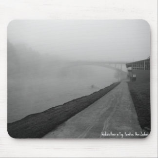 Mouse Pad. Waikato River in Fog Mouse Pad