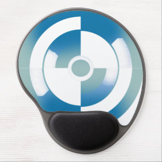 Mouse Pad with Abstract Circular Design Gel Mouse Pad