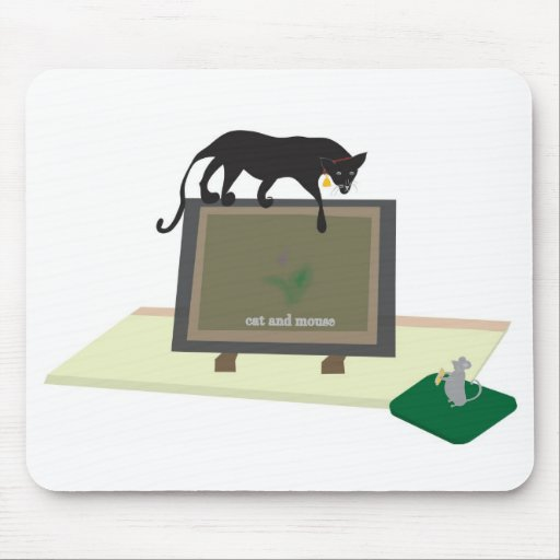 Mouse Pad With Cat