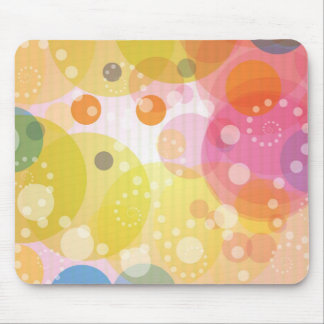 Mouse Pad with Colorful abstract Circle Pattern Mousepads