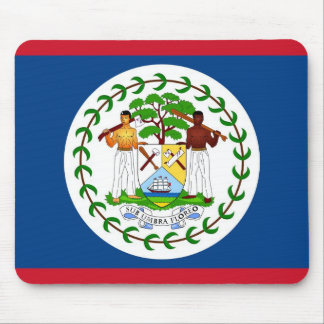 Mouse pad with Flag of Belize