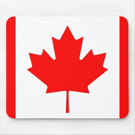 Mouse pad with Flag of Canada