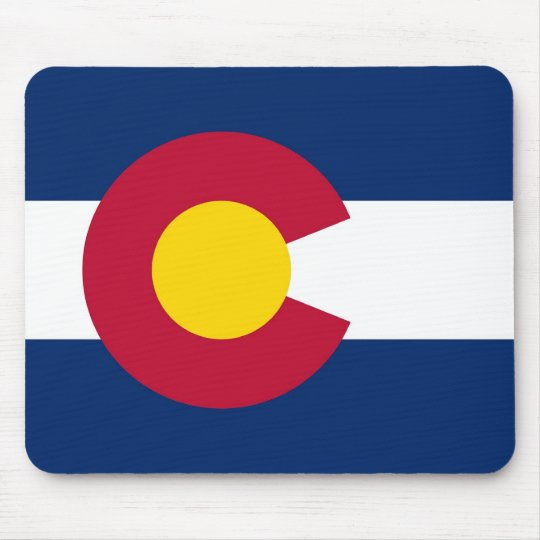 Mouse pad with Flag of Colorado State - USA