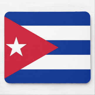 Mouse pad with Flag of Cuba