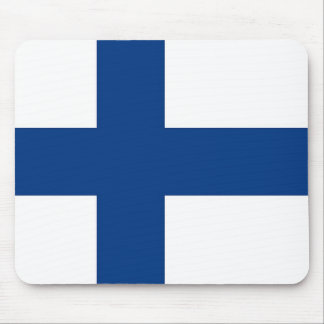 Mouse pad with Flag of Finland
