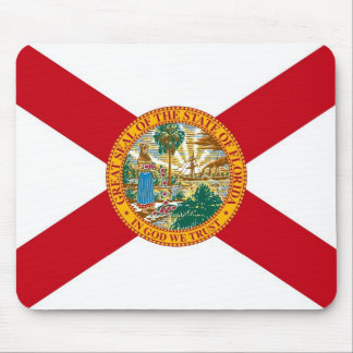 Mouse pad with Flag of Florida State - USA