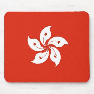 Mouse pad with Flag of Hong Kong, China