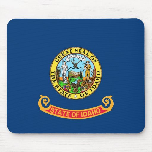 Mouse pad with Flag of Idaho State - USA