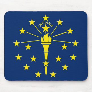 Mouse pad with Flag of Indiana State - USA