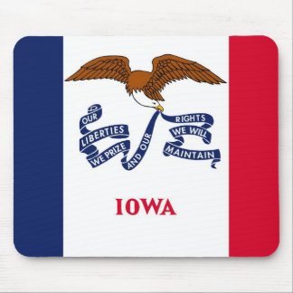 Mouse pad with Flag of Iowa State - USA