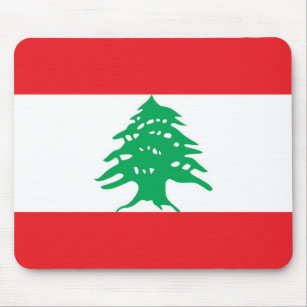 Mouse pad with Flag of Lebanon
