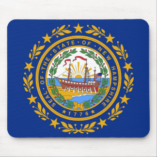 Mouse pad with Flag of  New Hampshire State - USA