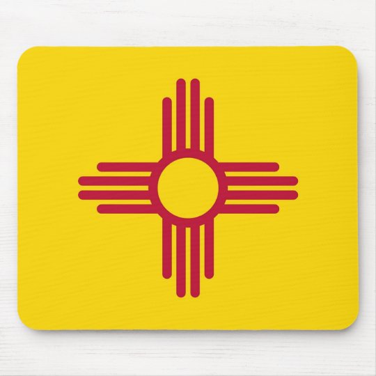 Mouse pad with Flag of New Mexico State - USA