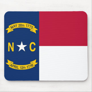 Mouse pad with Flag of North Carolina State - USA