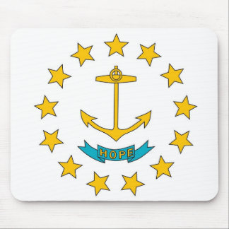 Mouse pad with Flag of Rhode Island State - USA