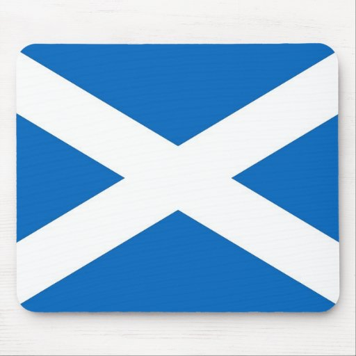 Mouse pad with Flag of Scotland