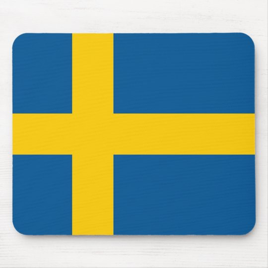 Mouse pad with Flag of Sweden