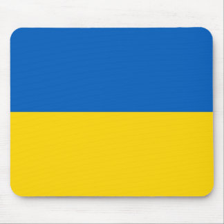 Mouse pad with Flag of Ukraine