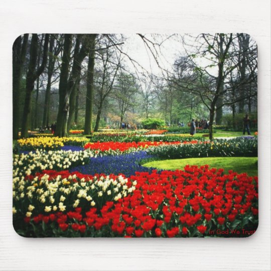 Mouse pad with Flower Garden in Holland