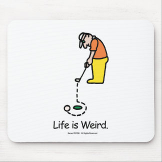 Mouse pad with golfer