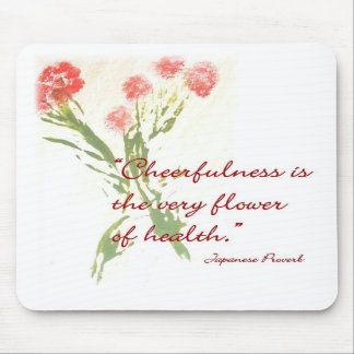 Mouse Pad with Japanese Proverb