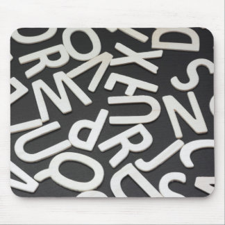 Mouse pad with letters