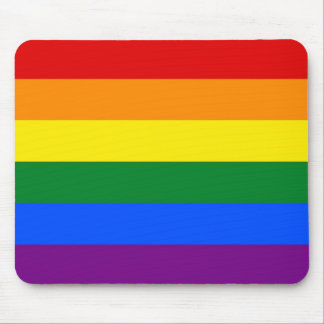 Mouse pad with LGBT Rainbow Flag