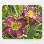 Mouse Pad with Pair of Purple Daylilies