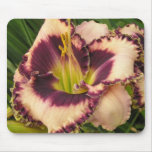 Mouse Pad with Purple Eyed on Peach Daylily